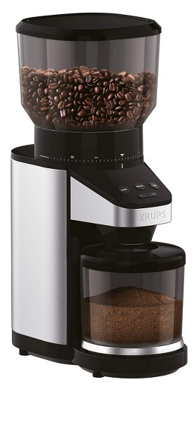 KRUPS GX420851 Coffee Grinder with Scale 14 oz Black